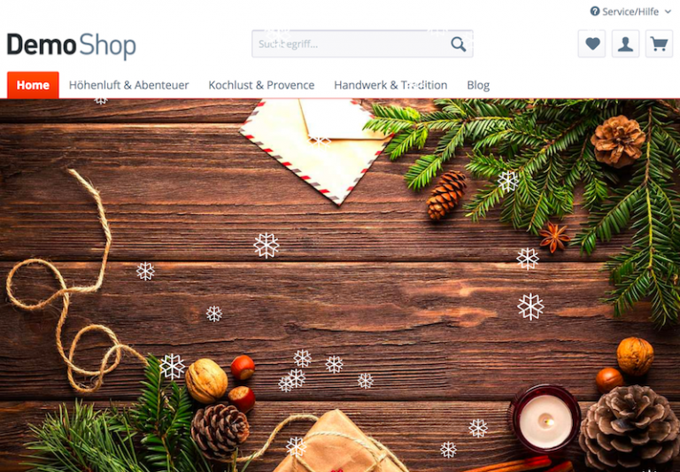 Shopware Plugin Schneefall Blog
